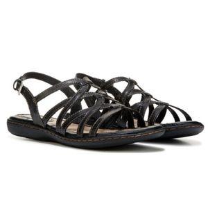 B.O.C Black Cora Leather Strappy Sandals